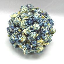 blue popcorn ball
