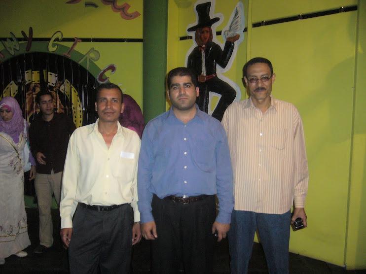 مع المخرج يوسف ابوزيد ود عادل شداد فى مسرح متربول