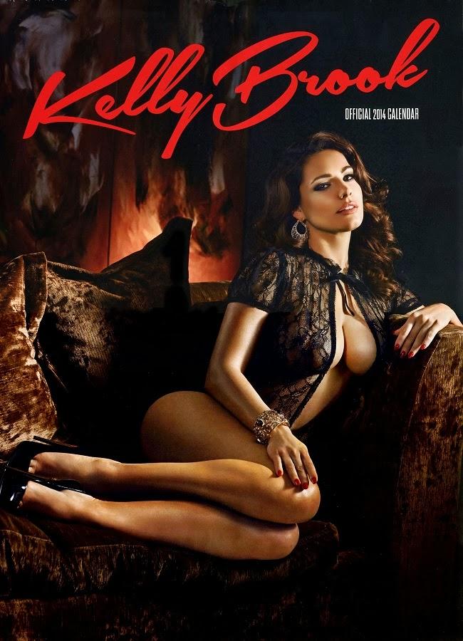 Kelly Brook lingerie looks for 2014 Calendar