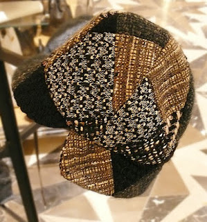 Jennifer Ouellette cloth patchwork cap.