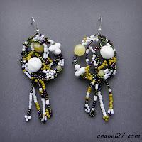 Яркие фриформ-серьги из бисера - бохо-стиль - 209 / 365