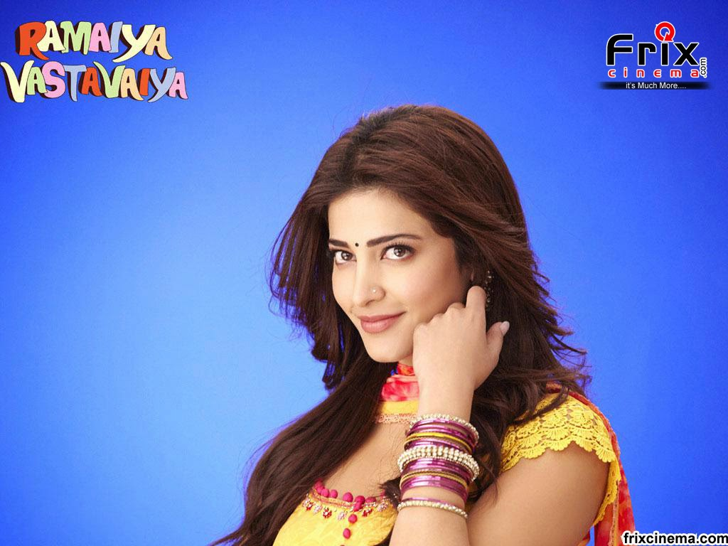 shruti hassan in ramaiya vastavaiya wallpapers - Shruti Haasan beautiful photos in saree from Ramaiya Vastavaiya