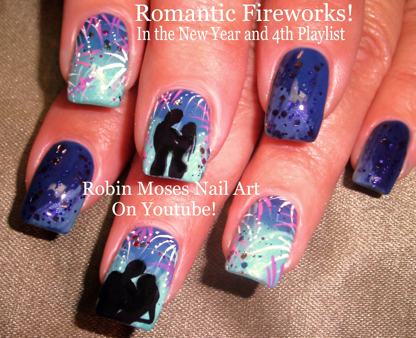 Robin moses nail art happy new year 2016 new years nails new wednesday december 30 2015 prinsesfo Image collections