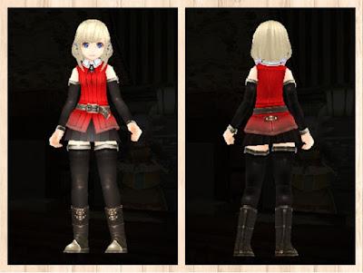 冒険者の服・赤1・軽量化