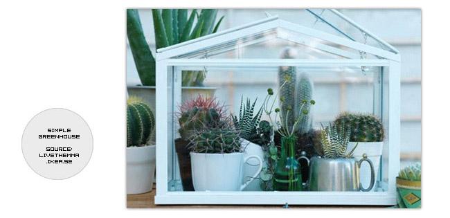 Simple mini greenhouse from IKEA
