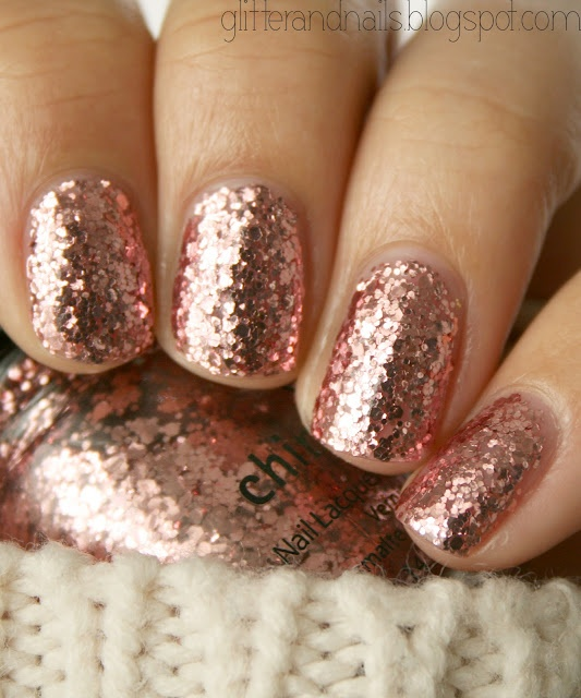 Rose Gold Nail Glitter: Juneberry Lane: Juneberry Beauty: Rose Gold