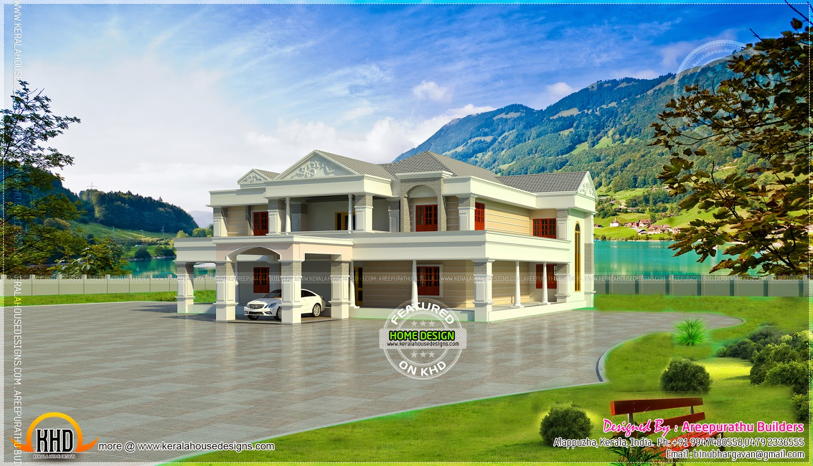6 Bhk Super Luxury Home Elevation Kerala Home Design And