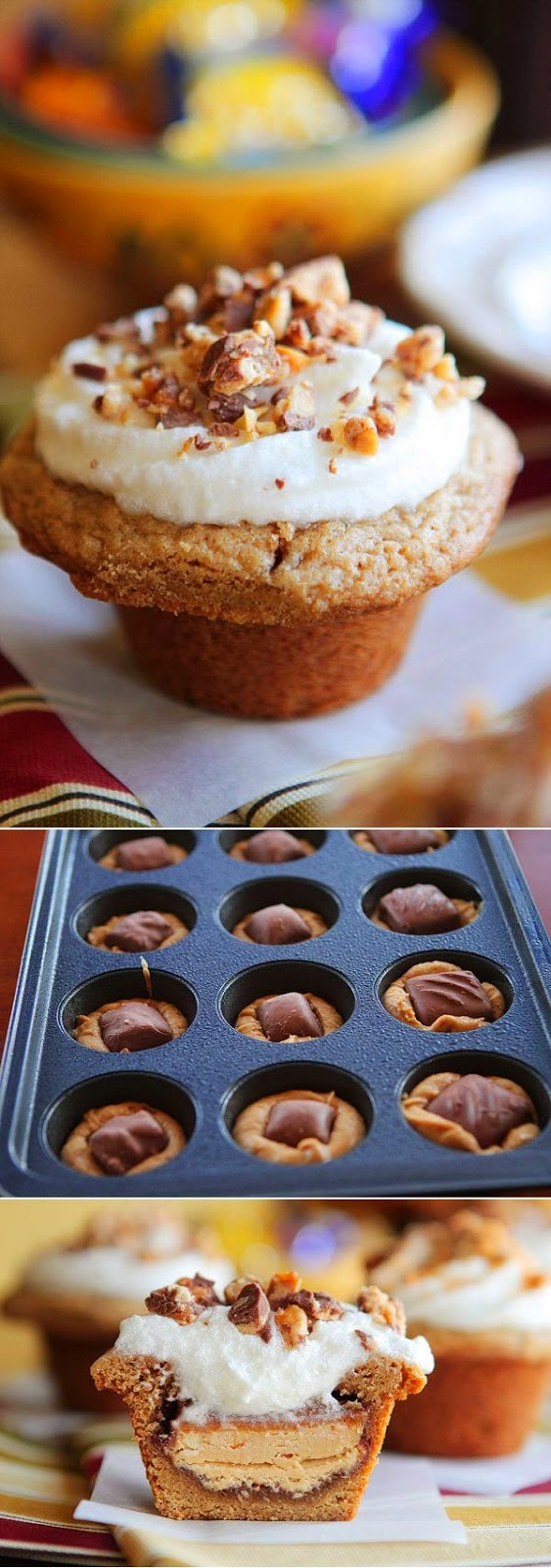 how to make candy stuffed cupcakes