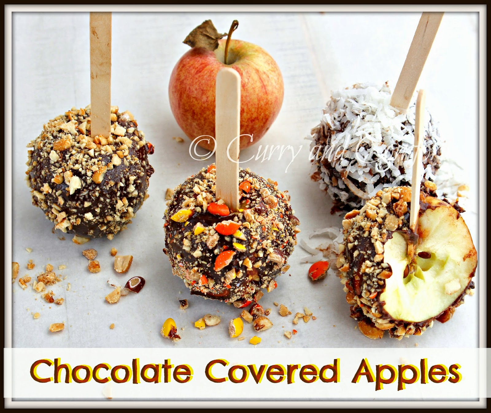 Chocolate Covered Apples with Nuts, Candy and Coconut (Apple Week Day ...
