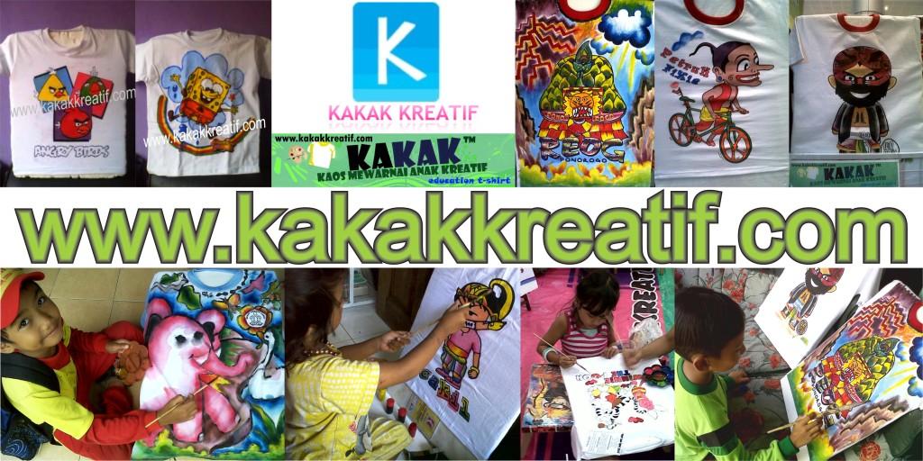 Kakak Kreatif Art--Creative Craft--Painting Handycraft--KAKAK--Kaos Mewarnai Anak Kreatif