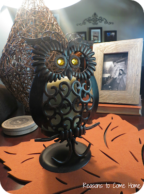 Fall Owl Candle Holder