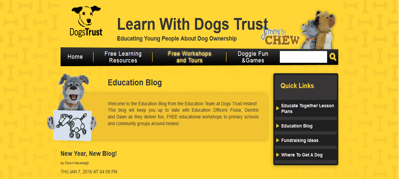Dogs Trust Education Corner: A New Home for the Education Blog