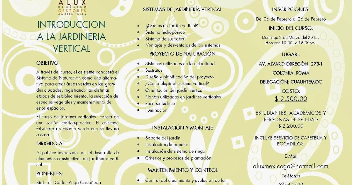 Alux de mexico gestores ambientales s c de r l de c v for Jardines verticales introduccion