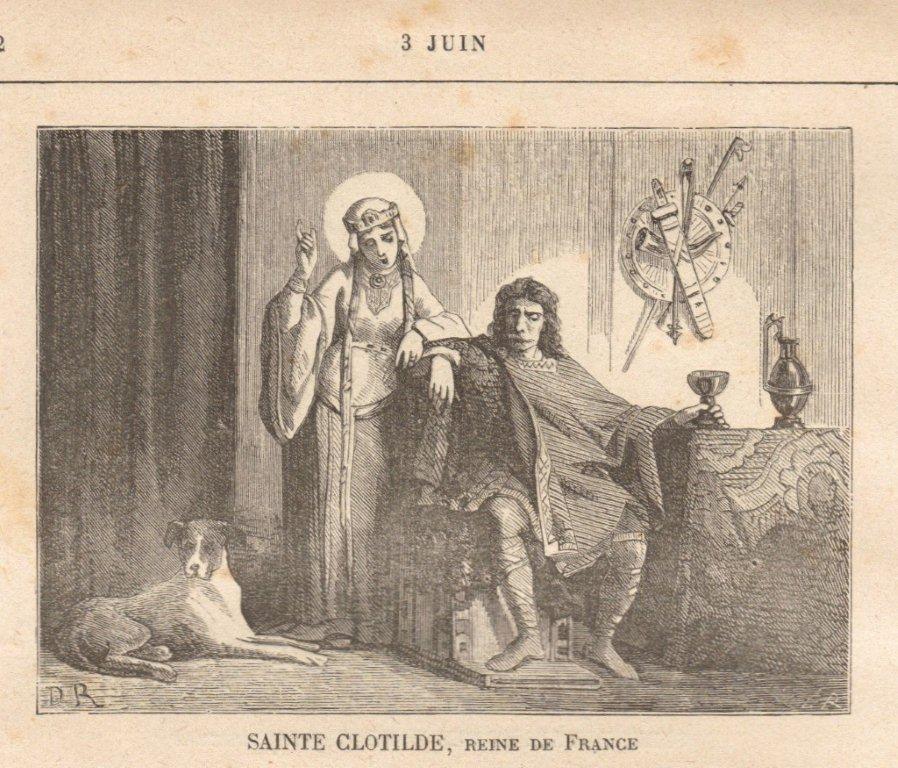 ŒUVRES CHRÉTIENNES DES FAMILLES ROYALES DE FRANCE - (Images et Musique)- année 1870  SDJ03JUIN