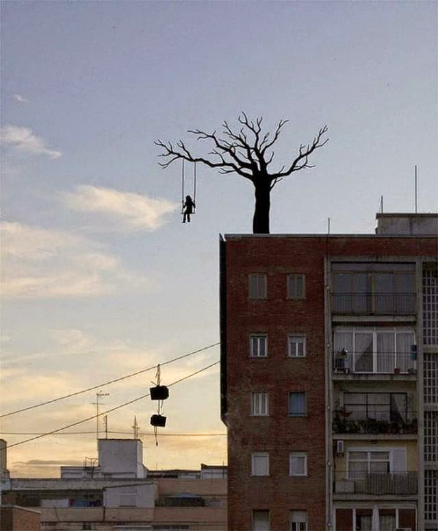 Spanish Artist Pejac Window Art