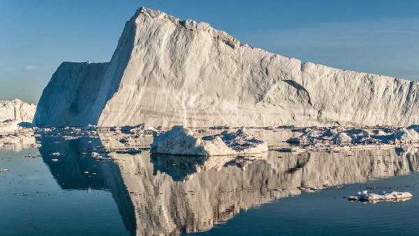 gletser Greenland, Jakobshavn Isbre, lapisan es