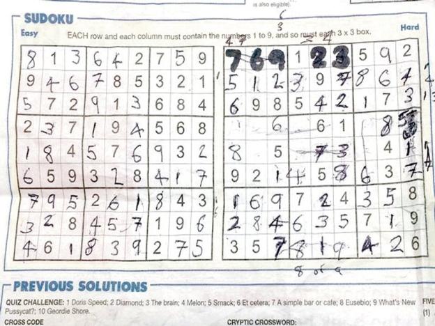 Kerana Sudoku Banduan Hantar Petisyen