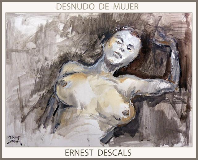 PINTURA-MUJER-DESNUDOS-PINTURAS-MUJERES-ARTE-ARTISTA-PINTOR-ERNEST DESCALS-