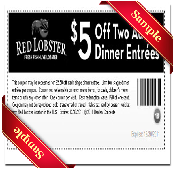 Red lobster coupons discounts