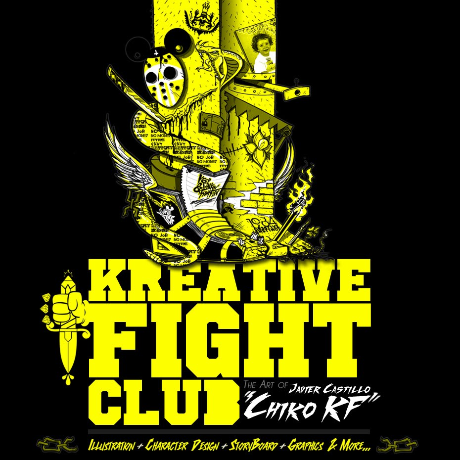 KFIGHT CLUB  &quot;Javier Castillo (is) Chiko KF &quot; illustration &amp; creativity