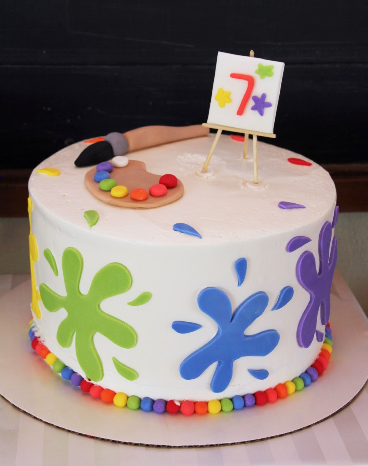 Art Gallery Birthday Cake : 5M Creations: Rainbow Art Party