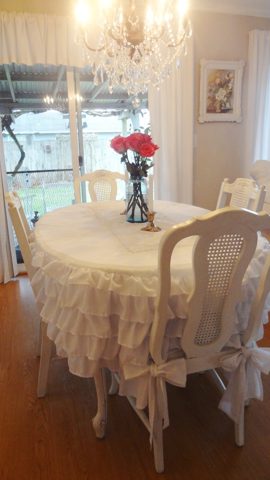 Making A Ruffled Bedskirt Tablecloth