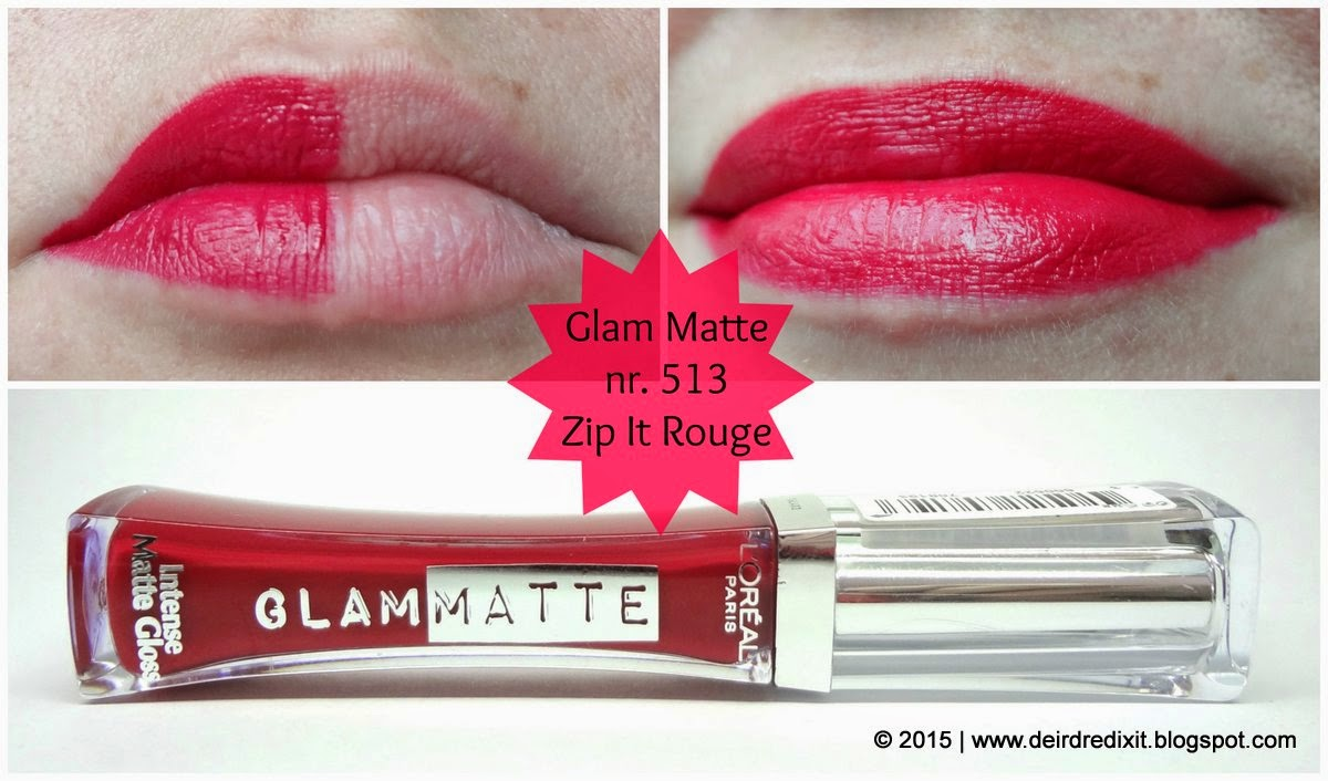 L'Oréal Gloss Glam Matte nr. 513 Zip It Rouge