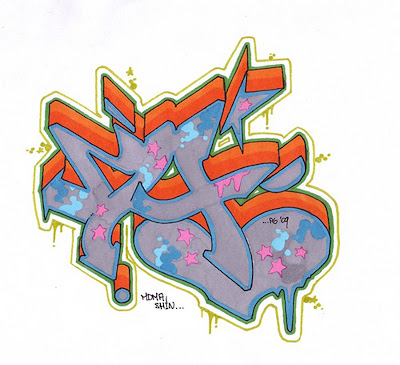 graffiti letters 3d. 3D Bubble Graffiti Letter A by