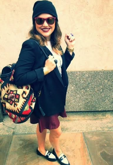 New York City street fashion, fashion writers NYC, Olivia smiling, hipster style, Brooklyn trendy fashion