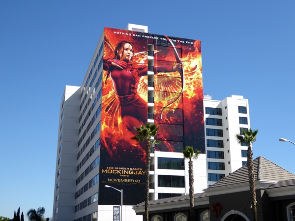 Giant Hunger Games Mockingjay Part 2 billboard
