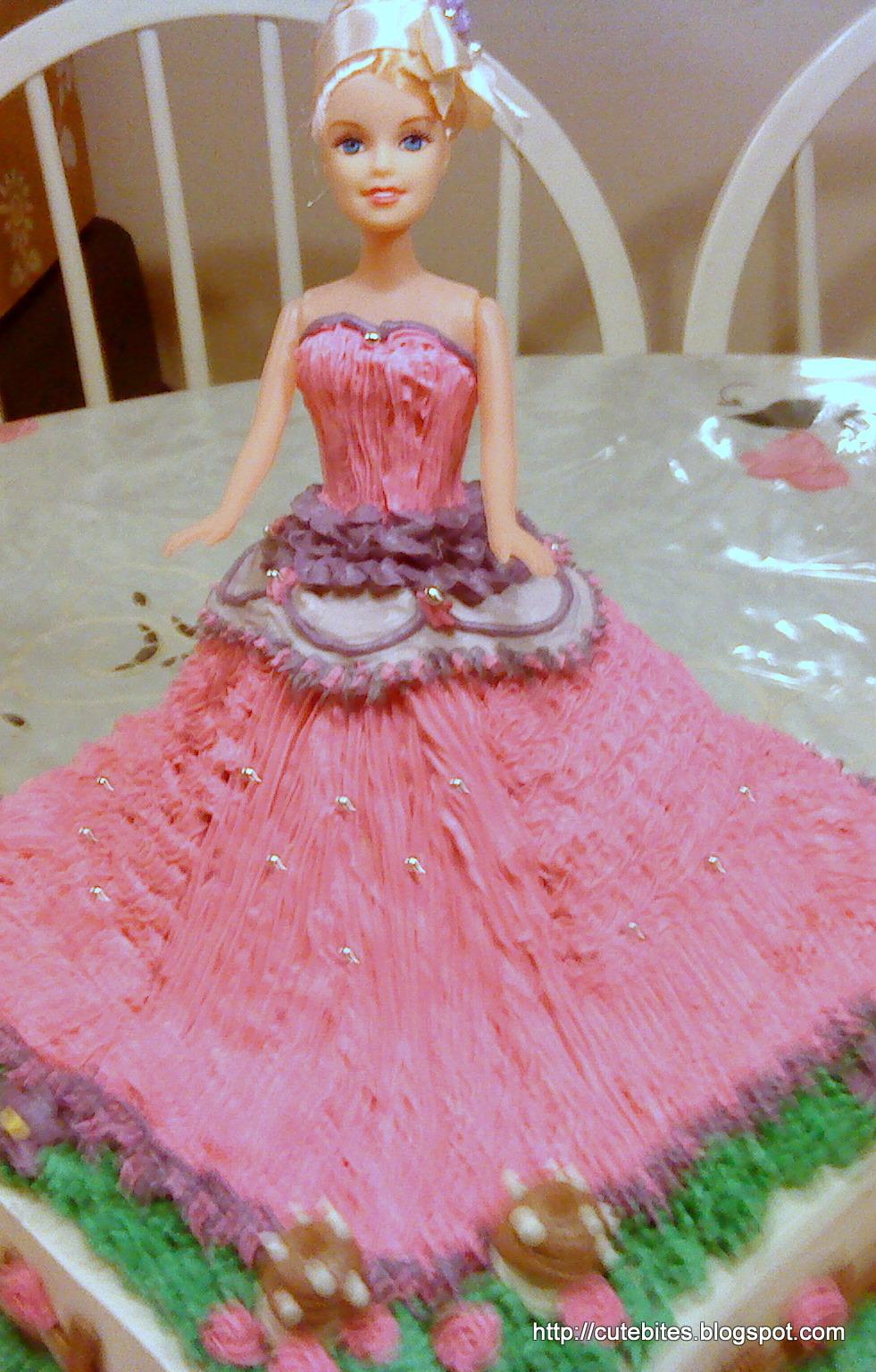 Too Cute To Resist Barbie Cake Happy Birthday Nur Iman