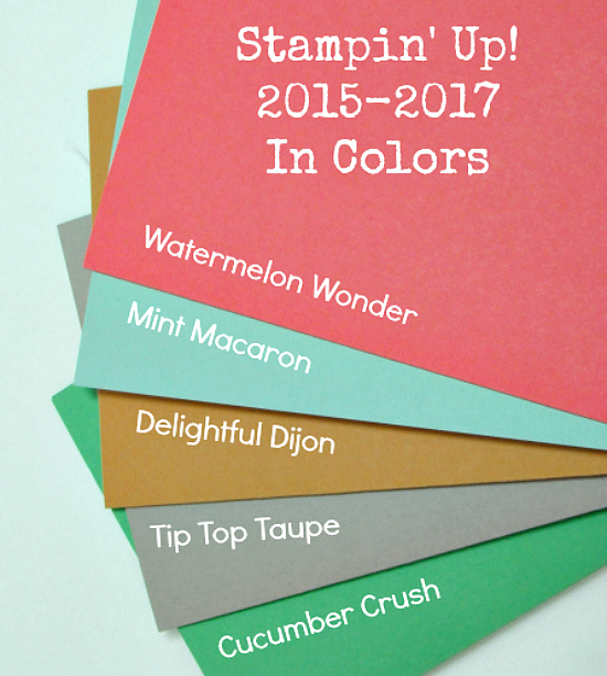 Stampin' Up! 2015-2017 In Colors Photo Image by Stampingville