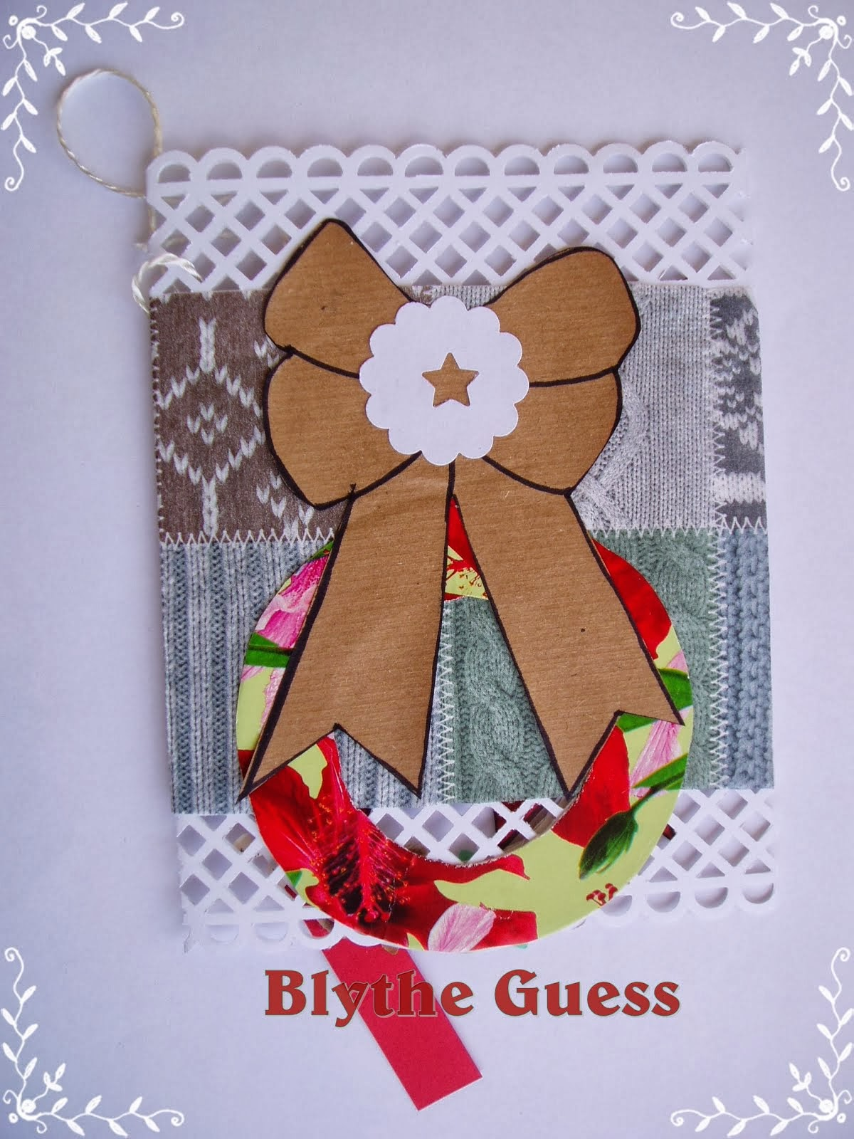 Lovely Christmas Wreath Card