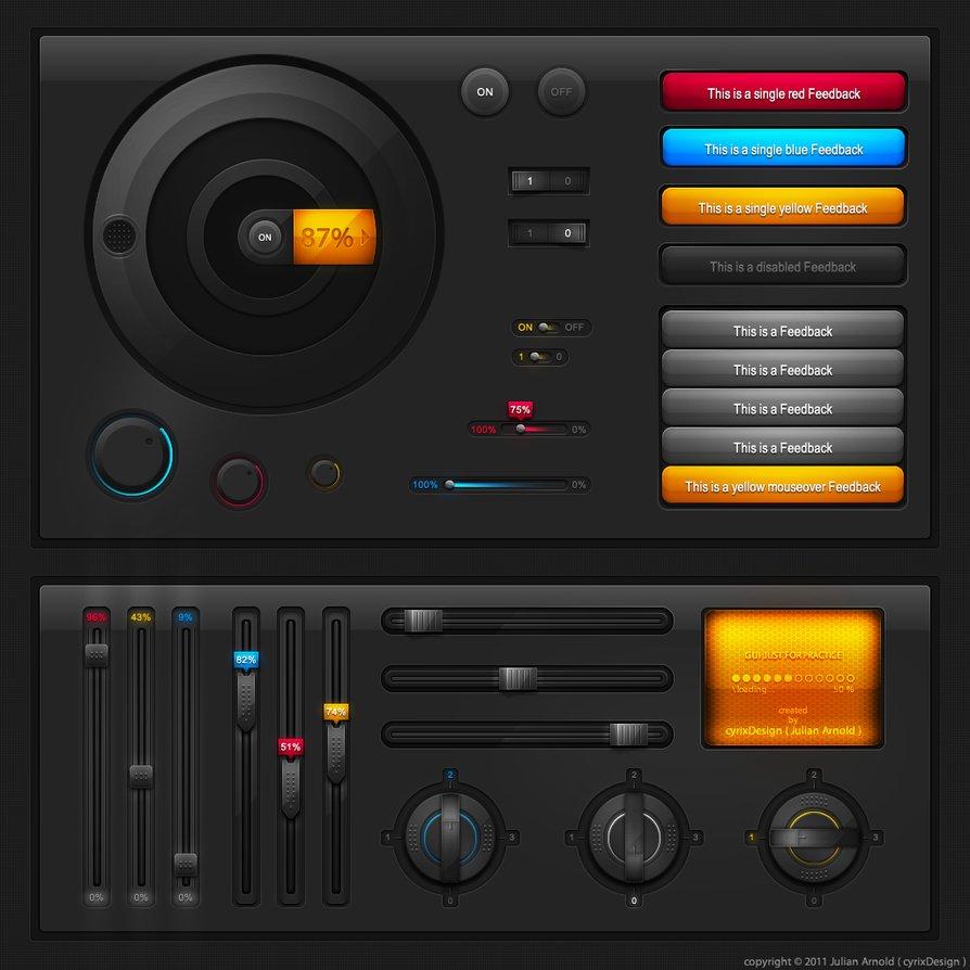 Tech User interface (UI) elements Pack