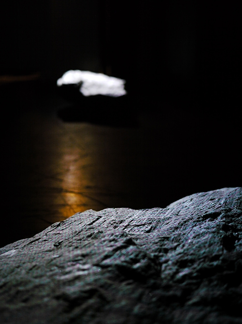 Two rocks with white projected light #2