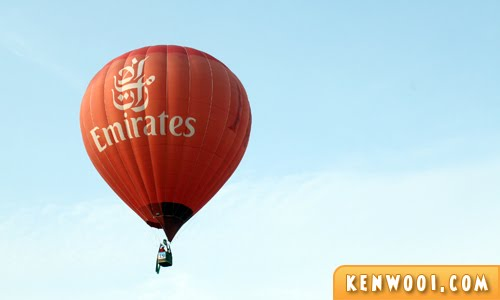 putrajaya hot air balloon emirates