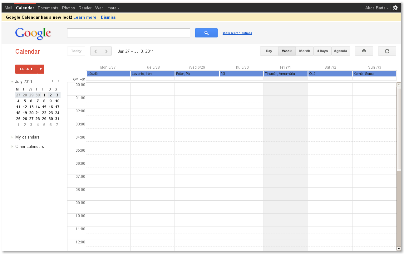 how to undo new look google calendar