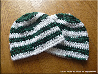 the finished beanies