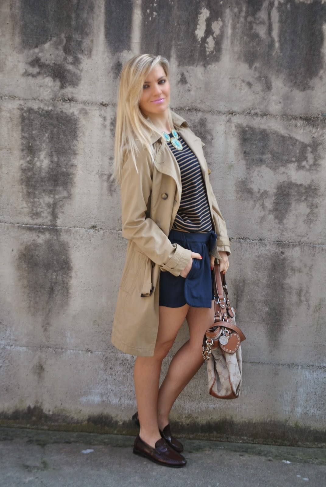 outfit trench beige come abbinare il trench outfit blu mariafelicia magno colorblock by felym mariafelicia magno fashion blogger come abbinare il blu outfit borsa marrone outfit shorts blu outfit a righe outfit maglione a righe outfit primaverili casual outfit primaverili donna outfit aprile 2015 outfit a righe come abbinare le righe  spring outfit trench outfit blue outfit how to wear trench how to wear blue how to wear stripes fashion blogger italiane fashion blog italiani ragazze bionde fashion bloggers italy blonde hair blonde girl mac cosmetics rossetto rosa mac cosmetics mac cosmetics lipstick mango sisley pimkie fornarina lumberjack