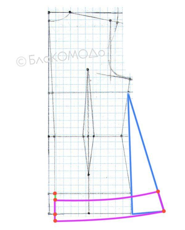 Моделируем жилет - спинка