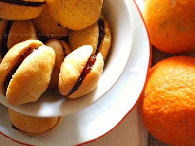 Dolci golosità:Biscotti arancia farciti