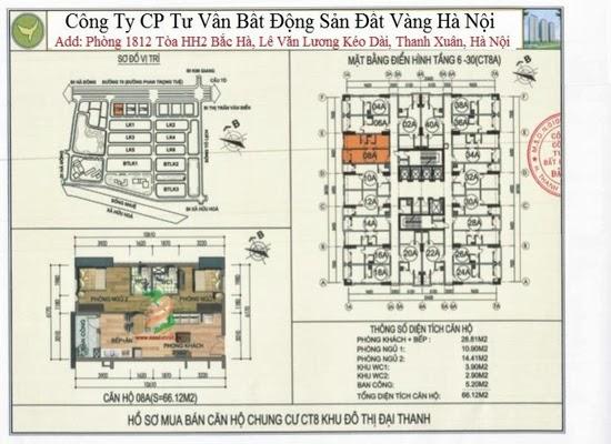 Chung cư Đại Thanh CT8 66,12m2