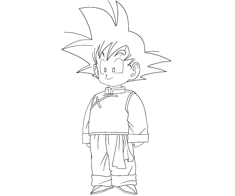 goten coloring pages - photo#3