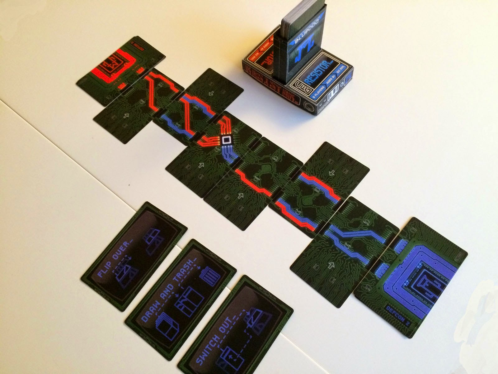 RESISTOR_  Review resistor 2 player hacking card game
