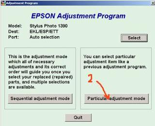 program reset epson stylus photo 1390
