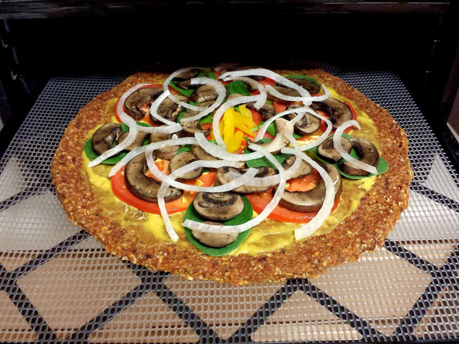 Raw vegan recipes by rocki raw vegan pizza nut and gluten free crust back into the dehydrator forumfinder Gallery