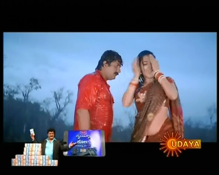 Honey Rose aka Dhwani hot navel and cleavage show in saree song from ...