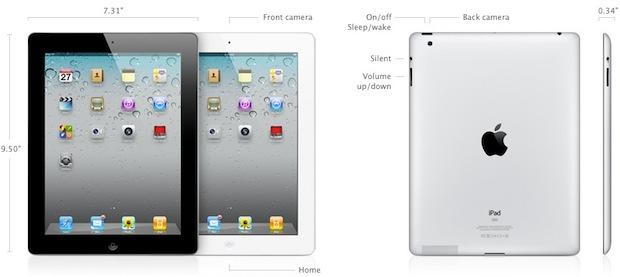 iPad 2 Specs
