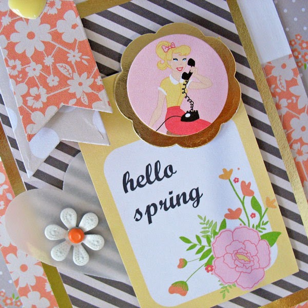 Kathy Martin Chickaniddy Twirly Girly card close-up