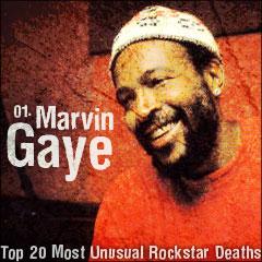 Top 20 Most Unusual Rockstar Deaths: 01. Marvin Gaye
